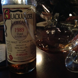 JR Blackadder Macallan 1989